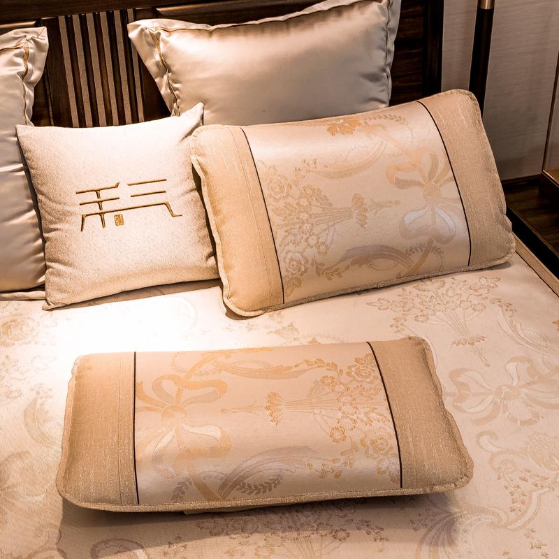 一对装枕套冰丝机洗柔软透气信封式单人枕夏季凉席夏天水洗枕头套