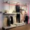 固艺特欧式服装店镂空装饰背板墙板展示架正挂侧挂挂衣杆地柜地台