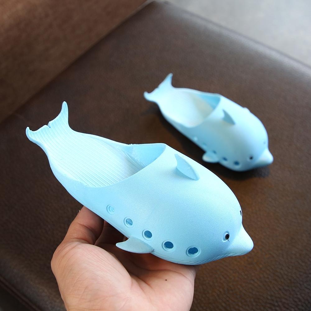 可爱海豚儿童凉拖鞋男童女童亲子宝宝洞洞鞋居家夏新款小孩沙滩鞋