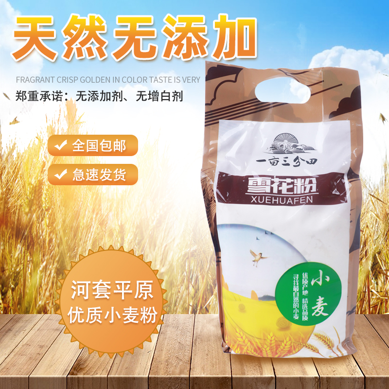 One mu three Fen field Hetao area snowflake flour 5 Jin general high gluten wheat core flour multi purpose wheat flour
