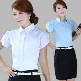 2015 summer new Korean women wear overalls skirt suit skirt female white collar occupation short sleeved suit