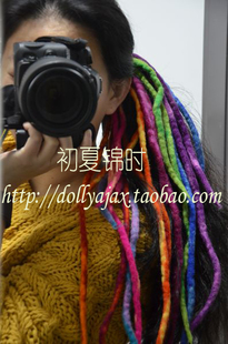 Star models Nepal handmade wool felt Jamaican reggae rainbow dreadlocks wind wool felt Tousheng headdress