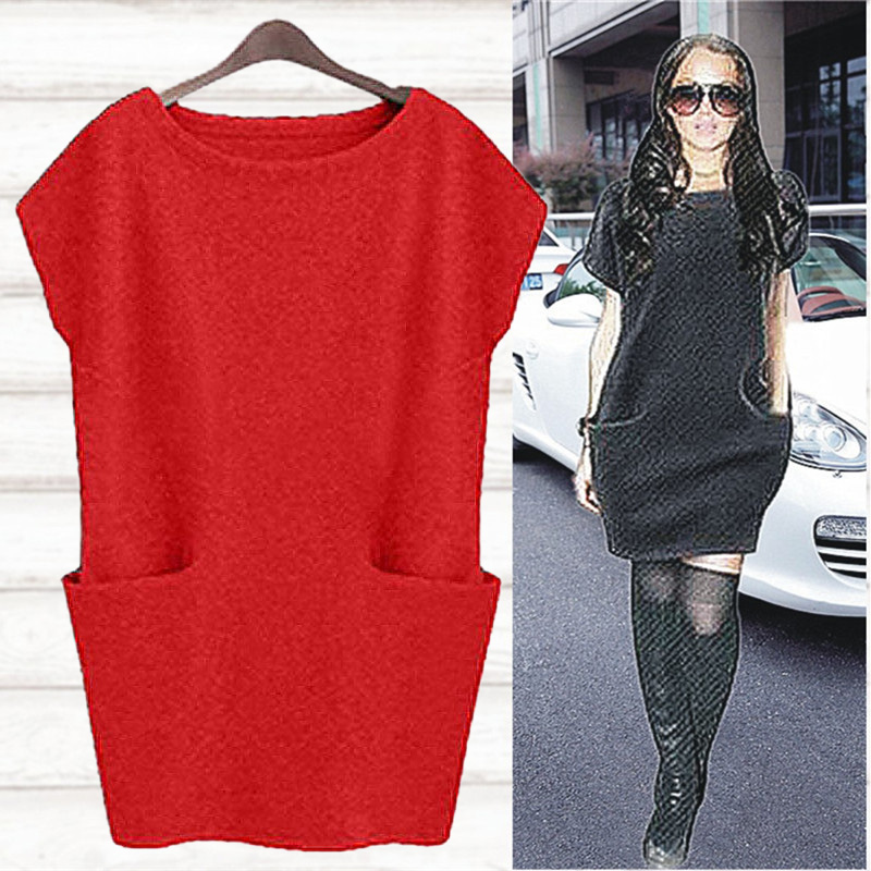 Waistcoat womens middle and long cover belly autumn dress 2020 large size womens Pullover red vest womens jacket