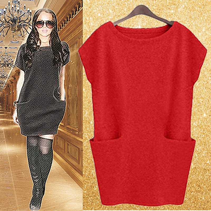 Mothers dress, rich wife, autumn and winter large size womens dress, your wifes foreign style red medium and long middle-aged and elderly autumn dress