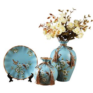 酒柜摆件客厅玄关电视柜陶瓷花瓶