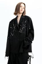 7SHIFT AW19 POMOスーツのジャケットの女性のレトロな黒の冬のデザインセンスのニッチのポート風イン流入