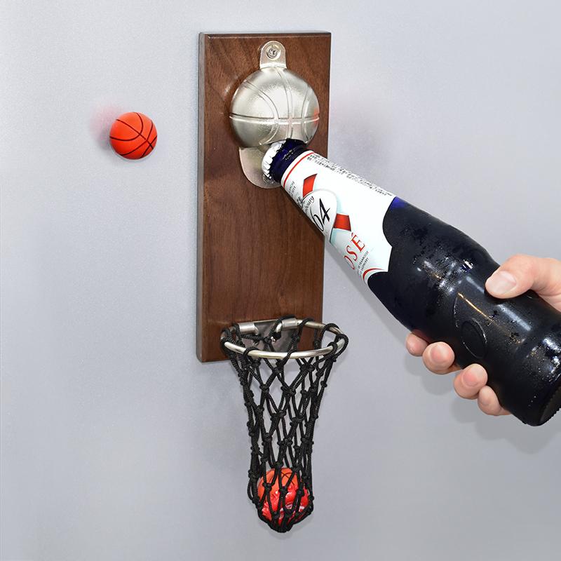 网红篮球框壁挂式啤酒冰箱贴瓶启