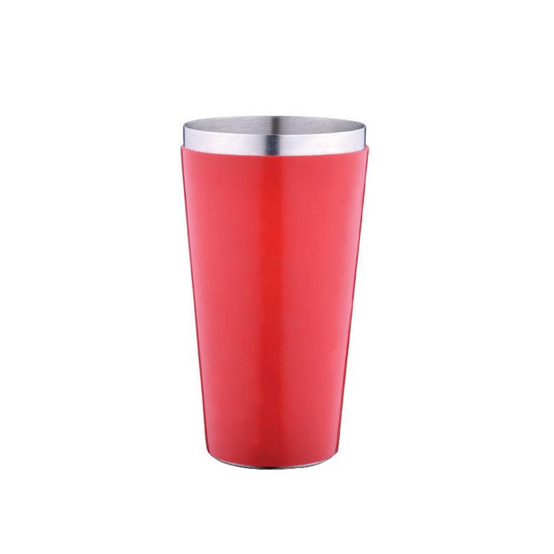 特价酒吧专用设备不锈钢包胶奶昔杯调酒杯 雪克壶 红色包胶雪克杯