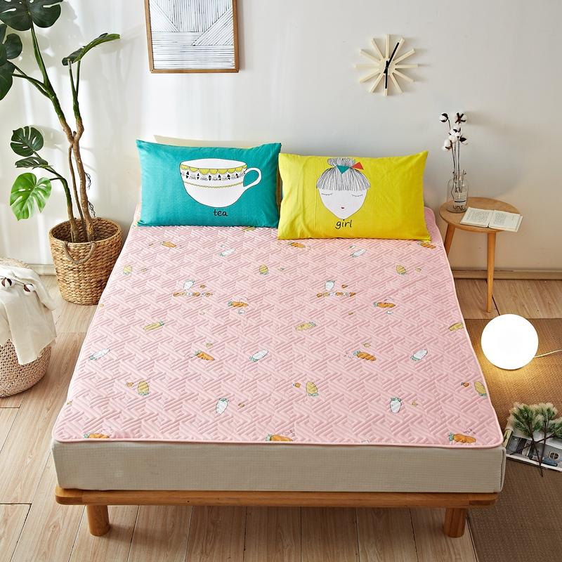 全棉床垫软垫夏天床褥子垫被防滑垫子双人家用薄款夏季透气保护垫11-12新券