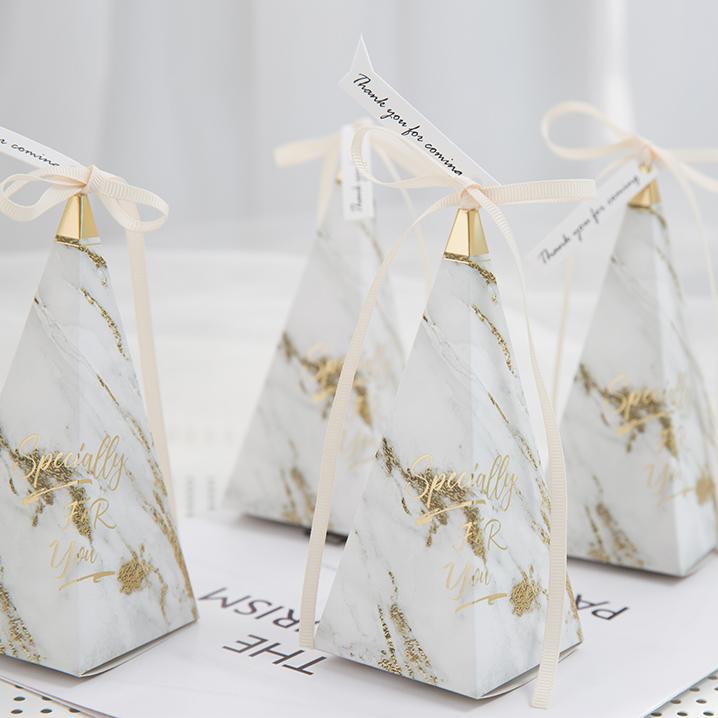 INS喜糖盒 2020新品大理石糖盒欧式婚礼包装创意结婚纸盒伴手盒子