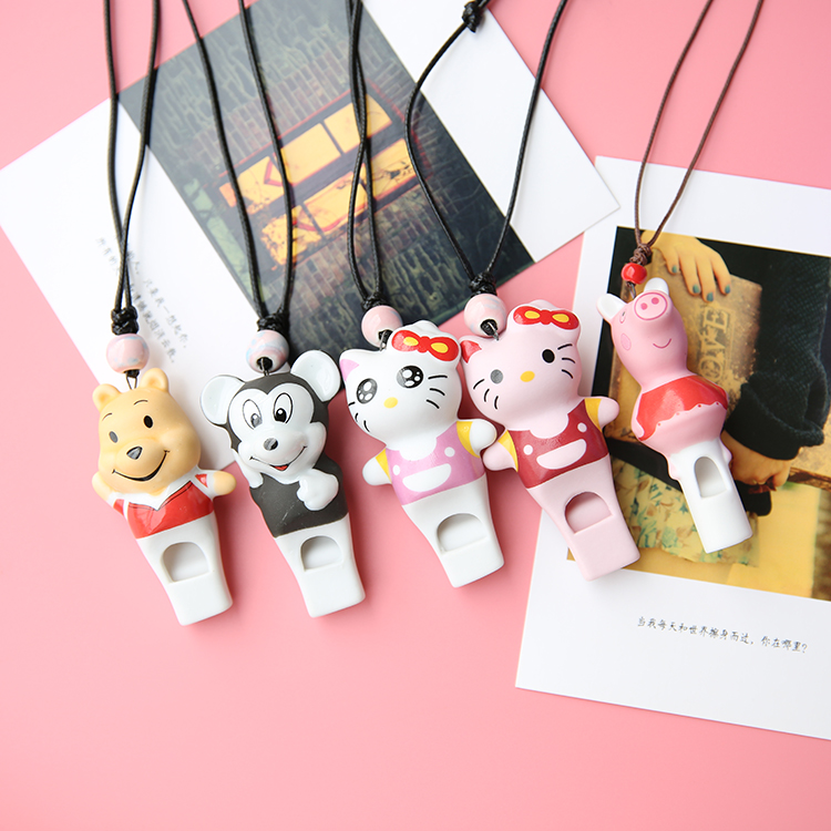 Three dimensional cartoon whistling necklace for female lovers and girlfriends