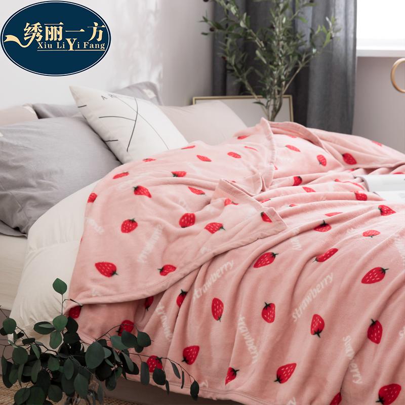 冬季毯子加厚保暖单人宿舍学生女珊瑚绒毛绒床单法兰绒毛毯法莱绒