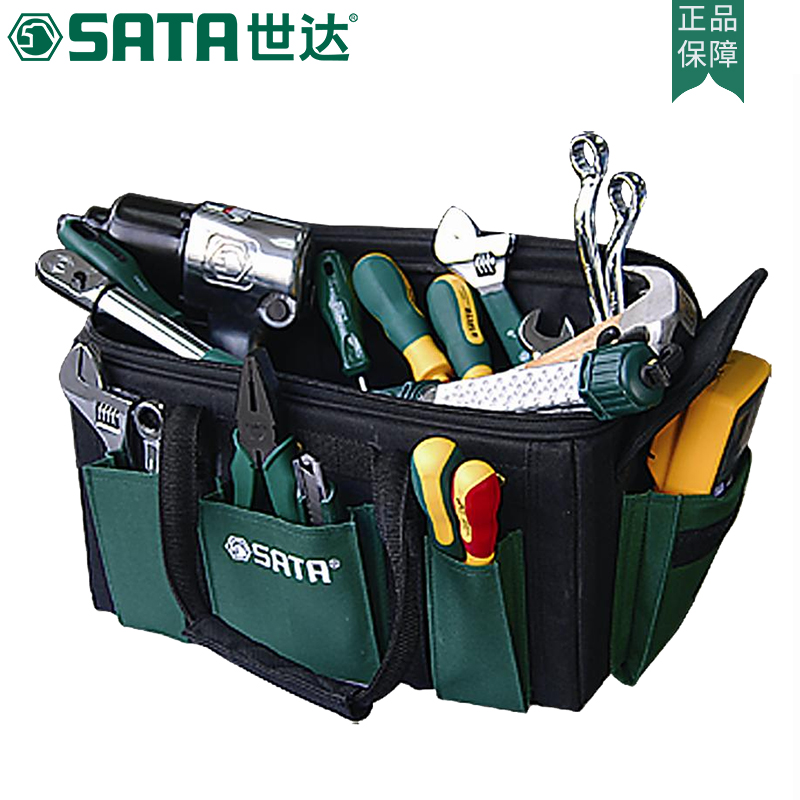 Shida tool kit, suitcase type, multi-functional wear-resistant, 16 inch electrical bag, household appliance maintenance tool bag 95185