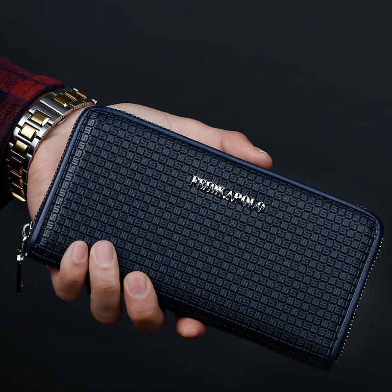 保罗男士手包男包手拿包韩版商务包青年长款钱包卡包包通勤手抓包