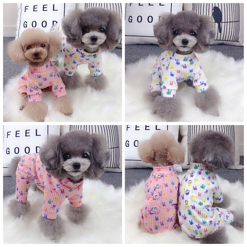 New style pet clothes autumn and winter warm four legged home clothes VIP biexiong Bomei Chenery Teddy dog clothes