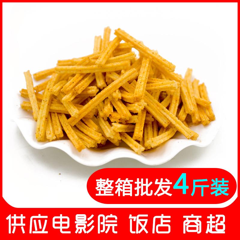 热销49件限时抢购散装【沙拉薯条*5斤】膨化食品薯片