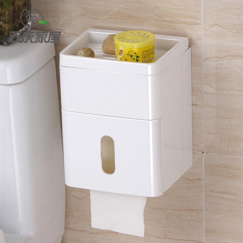 吸盘卫生间厕纸置物架厕所纸巾盒限时秒杀