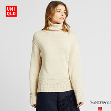 Designer cooperation women's two Lapel knit (long sleeve) 421620 UNIQLO