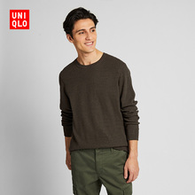Men's/Parents'Waffle T-shirts (Long Sleeves) 419748 Uniqlo