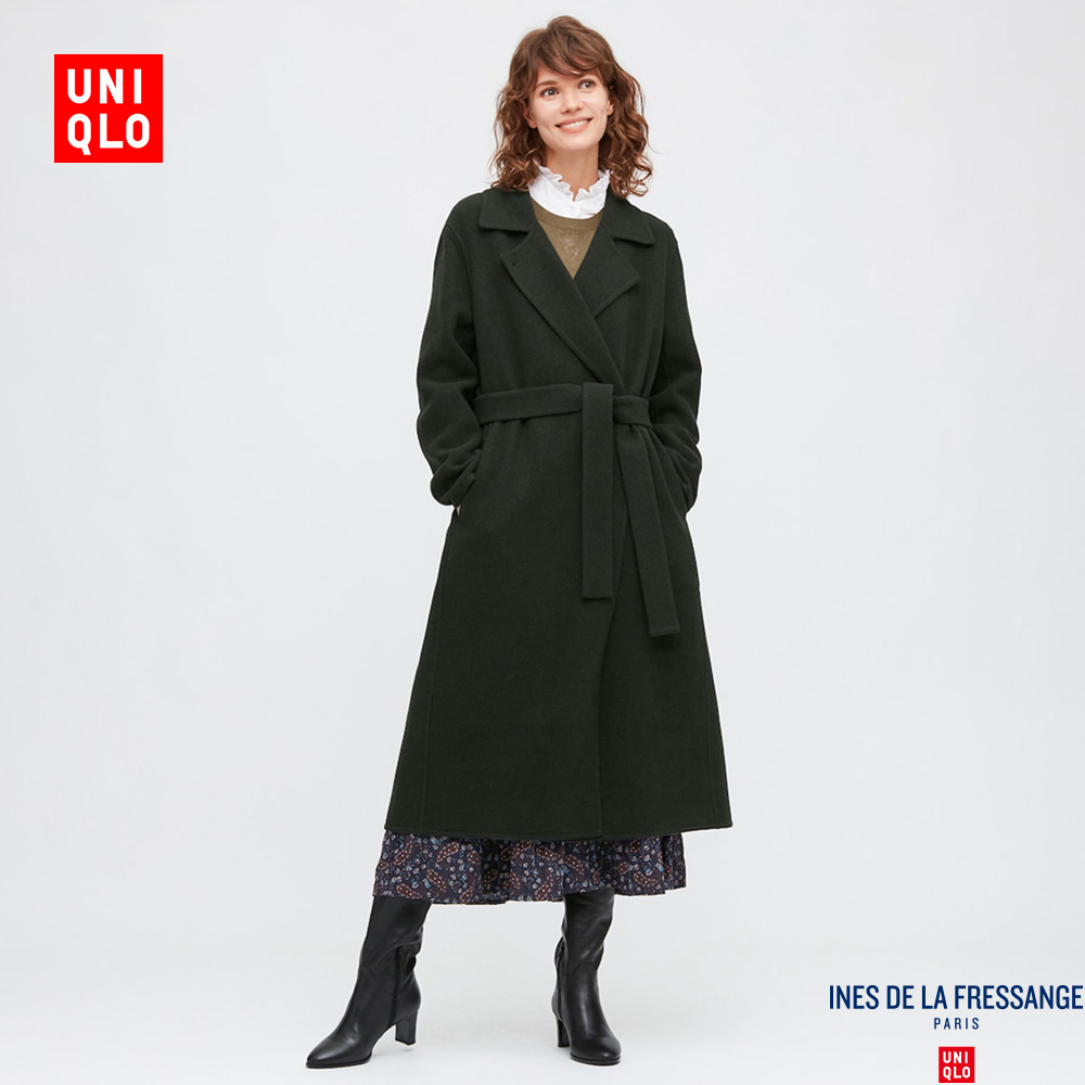Uniqlo designer collaboration women's wool blend double-sided woolen coat 432068 UNIQLO