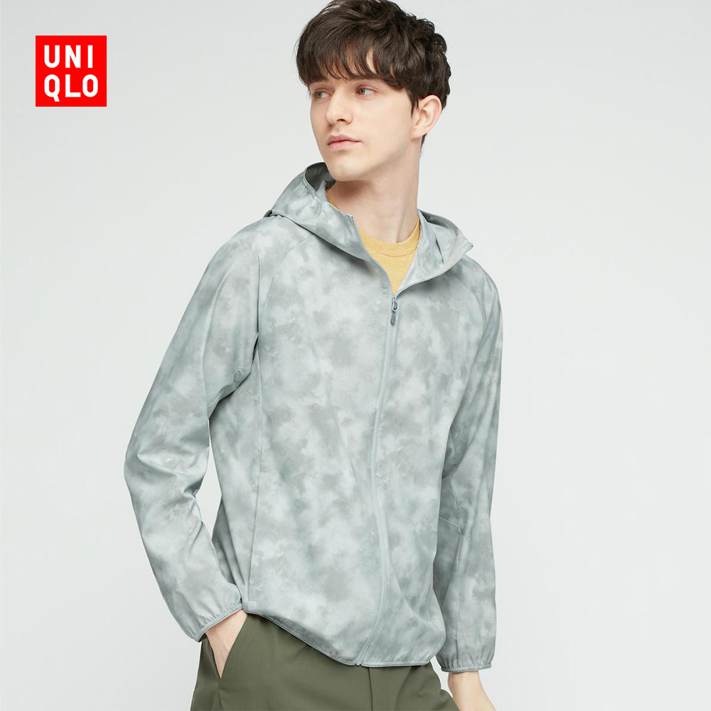 Uniqlo Instant Sunscreen Men's Portable UV hooded jacket (3DCUT thin) 437191