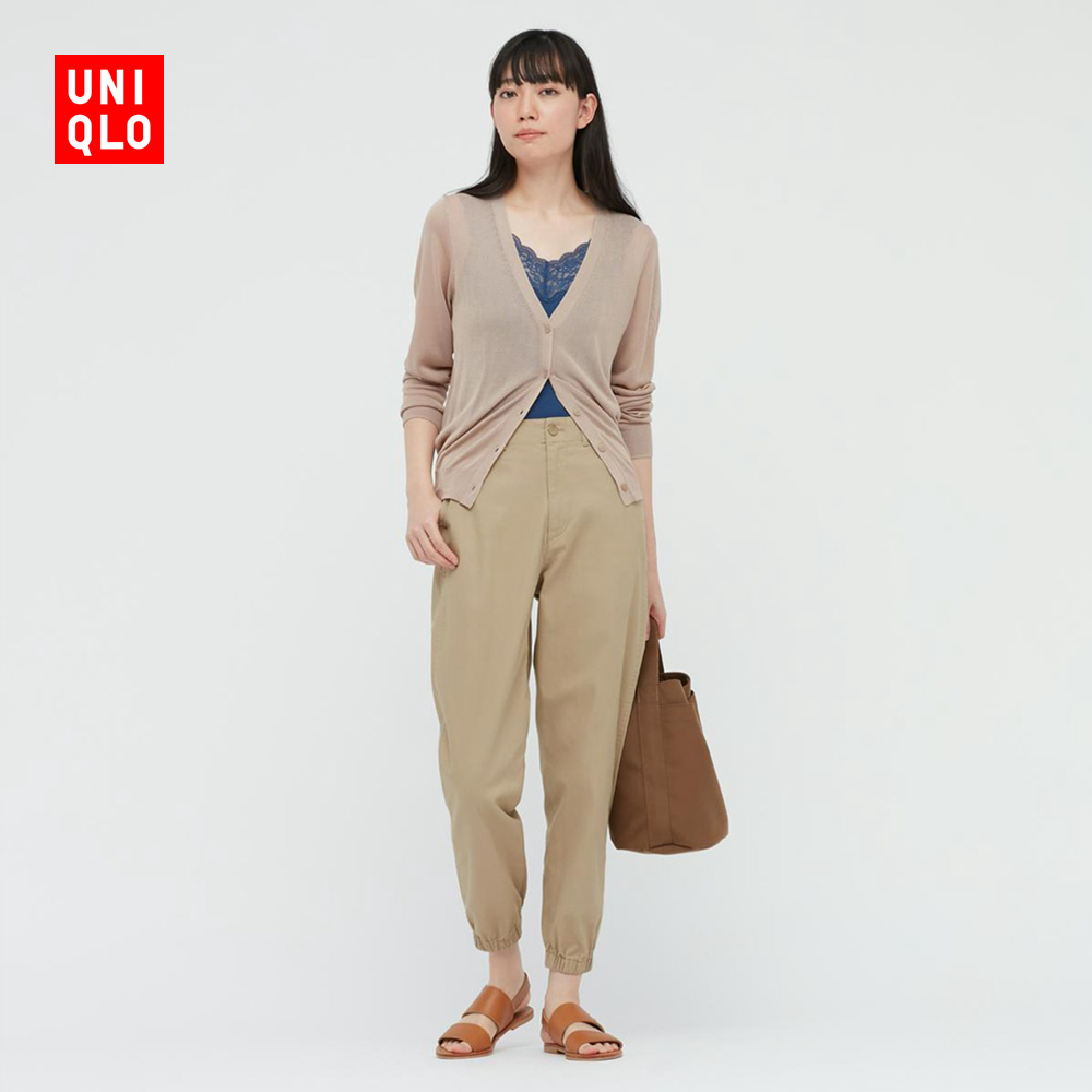 Uniqlo women's cotton stroll (trend pants) 437807 uniqlo