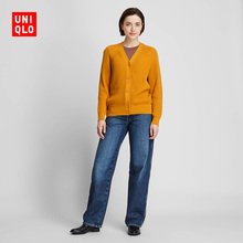 Women's Cotton Blended Loose Ribbon cardigan (Long Sleeve) 420292 Uniqlo