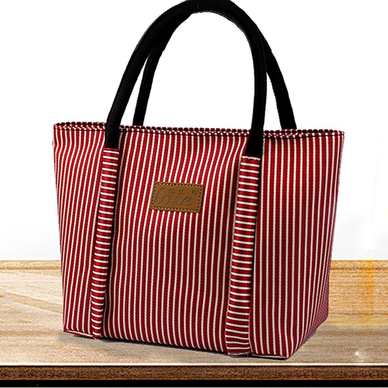饭盒袋防水拉链手提便当包卡通妈咪包大号带饭包学生小方包拎包