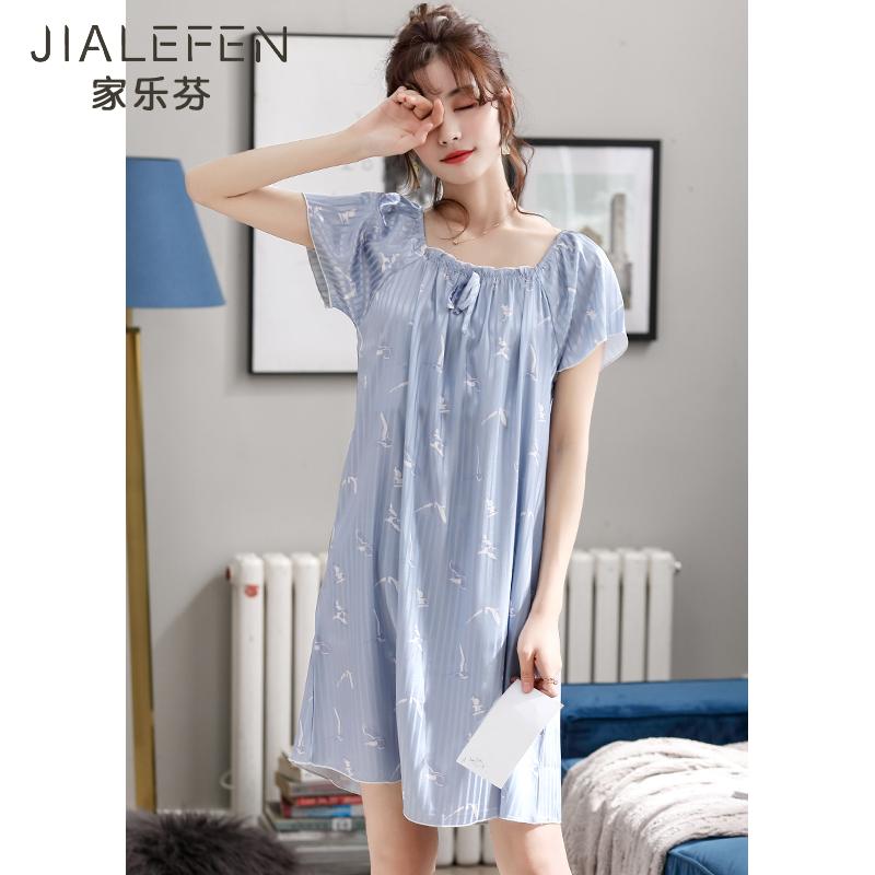 睡裙女士睡衣裙子夏季夏天丝绸冰丝薄款可爱日系甜美公主风中长款