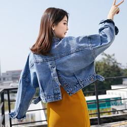 2020春秋新款韩版短款原宿bf风上衣后背开叉宽松百搭牛仔外套女潮