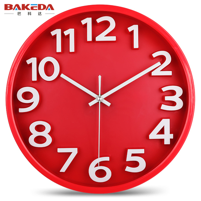巴科达静音钟表立体创意挂钟客厅挂表石英钟现代家庭时尚简约时钟