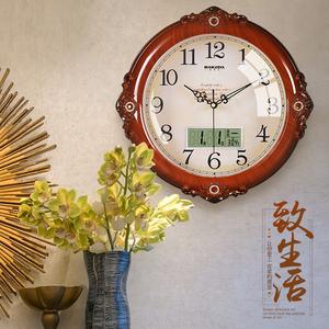 巴科达客厅静音挂钟家用创意时钟时尚个性钟表欧式挂表卧室石英钟