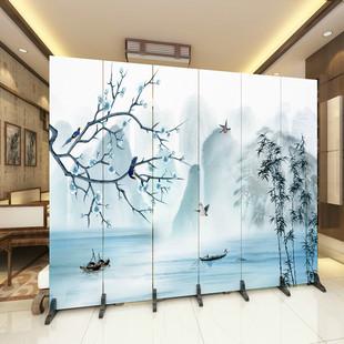 新中式办公室屏风隔断墙客厅小户型酒店折叠移动简约现代简易折屏品牌
