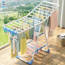 晾衣架落地折叠室内家用阳台晒衣杆简易卧室婴儿童宝宝凉衣服神器
