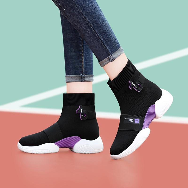 Женские ботинки на платформе / Высокие кроссовки Артикул 598945681662