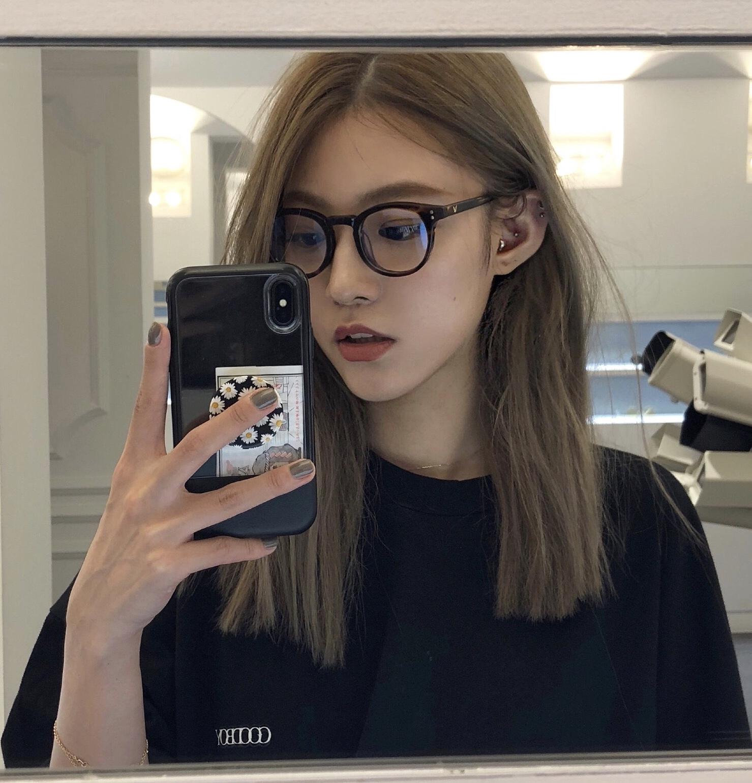 ins风素颜复古小圆框网红黑框眼镜女韩版潮小脸散光可配近视镜架