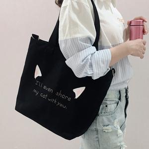 帆布包女ins布袋手提上课斜挎包包