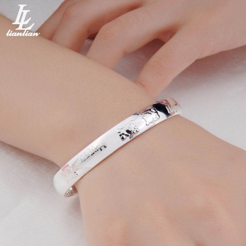 Zuyin Bracelet s999 pure silver cartoon cat Japanese and Korean fashion cute bracelet for female lovers birthday gift