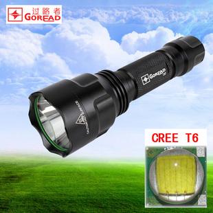 C8T6强光户外旅行手电筒1200流明进口LED充电远射光杯家用灯具