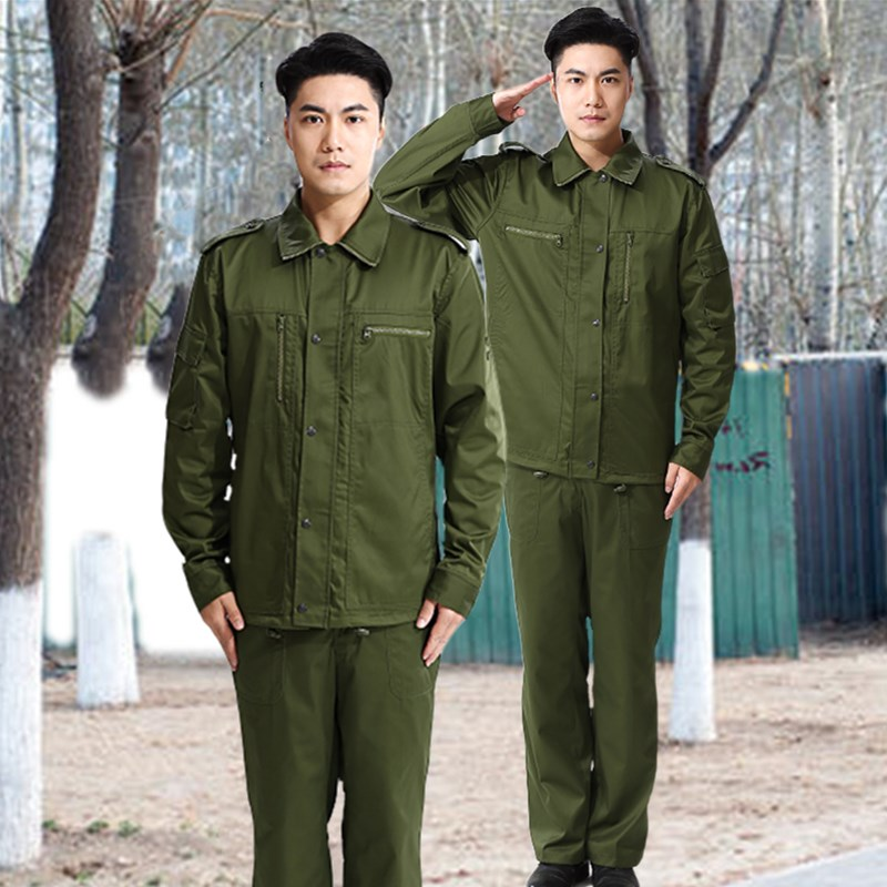 Stock old 87 style training clothes, fat army green jacket, polyester card fabric suit, outdoor fireproof and wear-resistant electric welding clothes