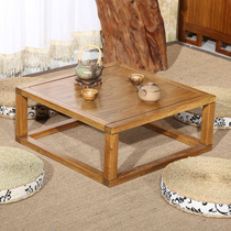 Japanese-style balcony tatami coffee table Floating window Table Small coffee table modern simple kang table solid wood floating window table table