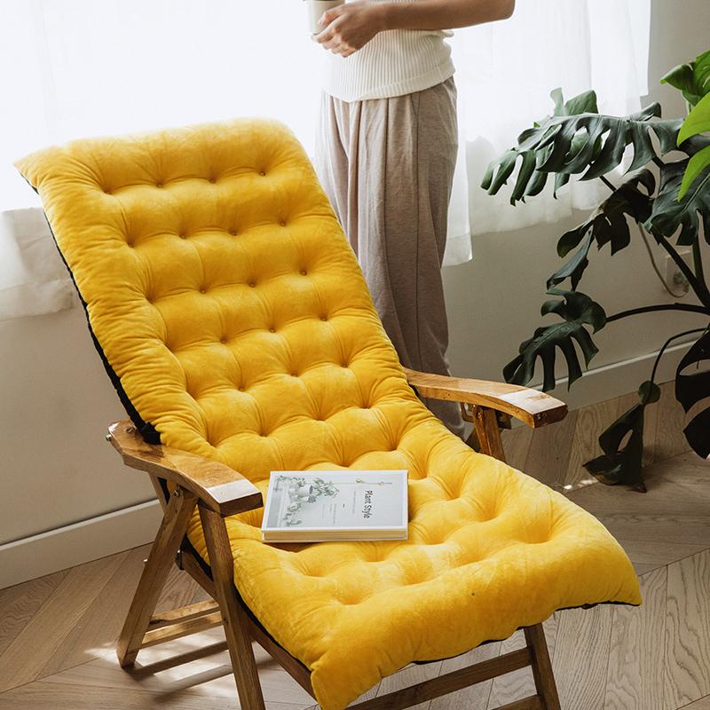 躺椅坐垫靠垫一体摇椅棉垫子四季通用加厚秋冬季折叠椅子懒人椅垫
