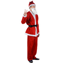 Christmas costume old man clothes Christmas dress suit Santa Claus costume adult man