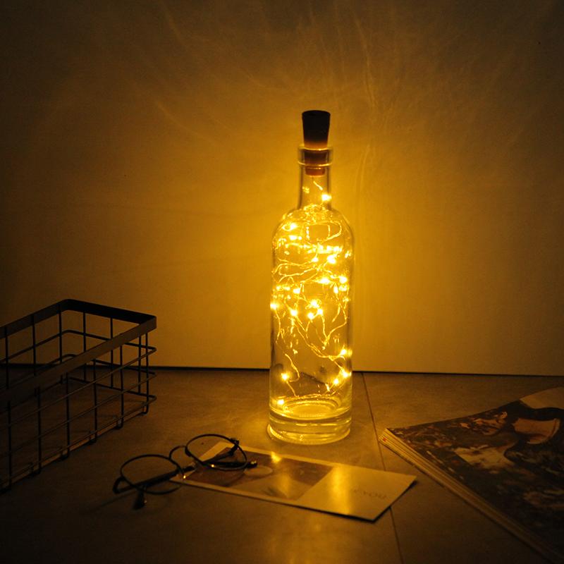 铜线灯串led电池酒瓶卧室ins瓶塞
