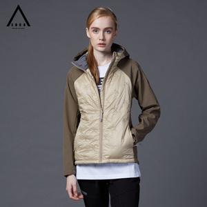 EDCO艾德克 秋冬新款户外薄棉服女士短款防风外套薄棉衣保暖修身