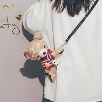 夏新款韩版休闲手机包可爱萌硅胶单肩斜挎包2019卡通学生小熊包女