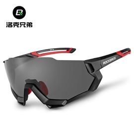 洛克兄弟自行车骑行眼镜偏光变色防风近视跑步开车运动太阳镜男女图片