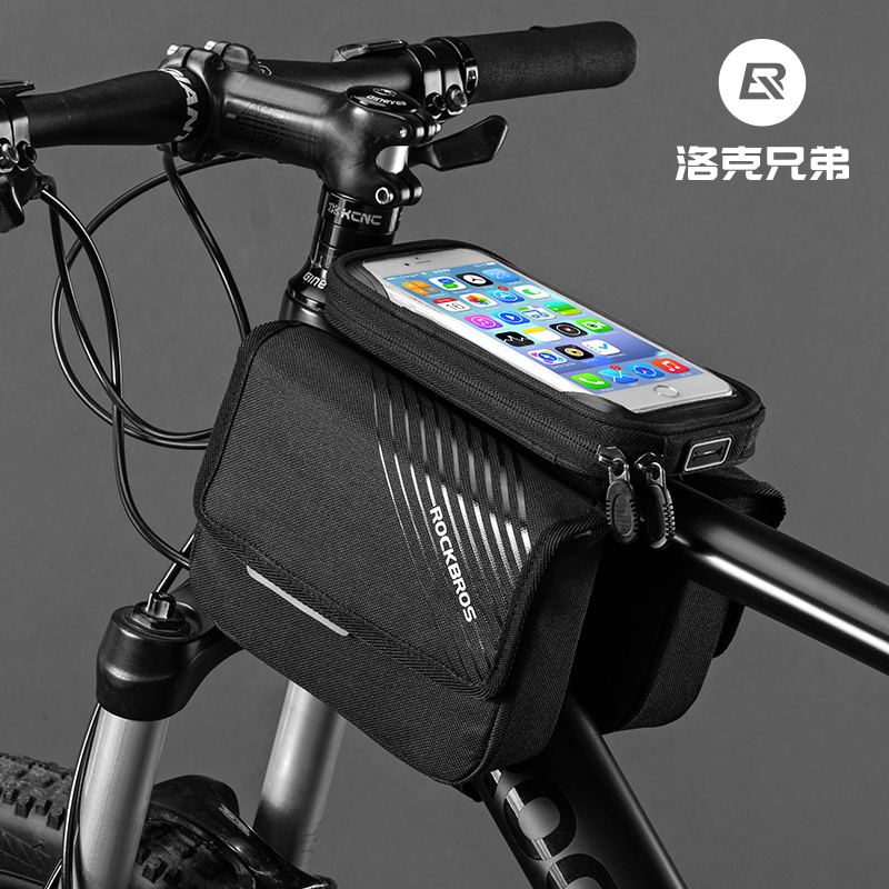 洛克兄弟自行车包手机触屏车前包上管包山地车马鞍包骑行装备配件