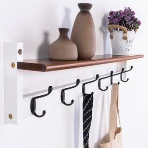 挂衣架壁挂墙上衣帽架创意实木卧室衣服架子玄关多功能挂钩置物架