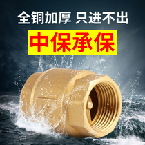 Crown Vertical Check Valve full copper thickening pump pipe water meter anti-lock valve spring-valve 4 minutes 6 minutes 1 inch